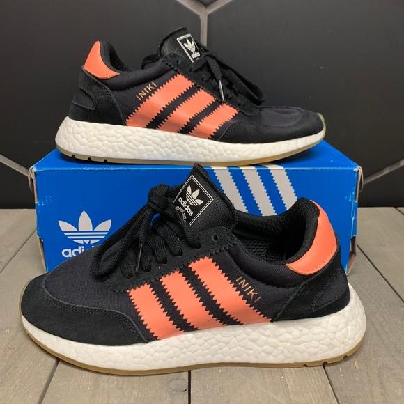 Womens Adidas Iniki Runner Semi Flash Orange Shoe